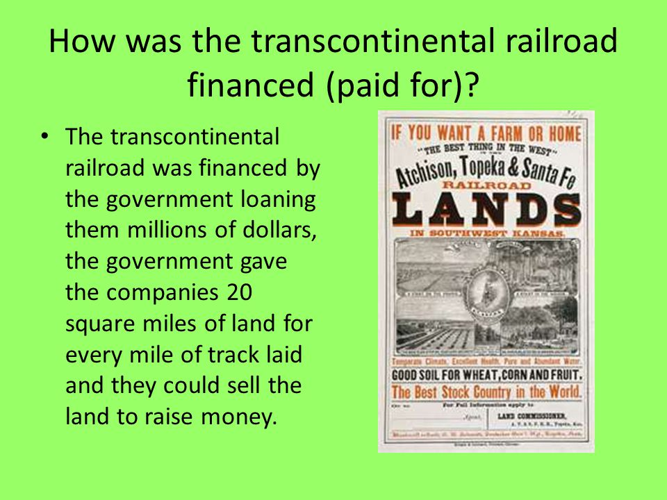 Railroads Transform the Nation ppt download – Transcontinental Railroad Worksheet
