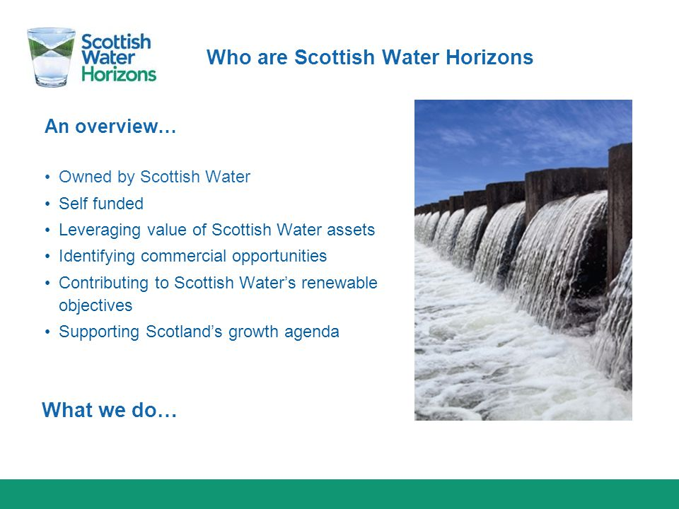 Who are Scottish Water Horizons