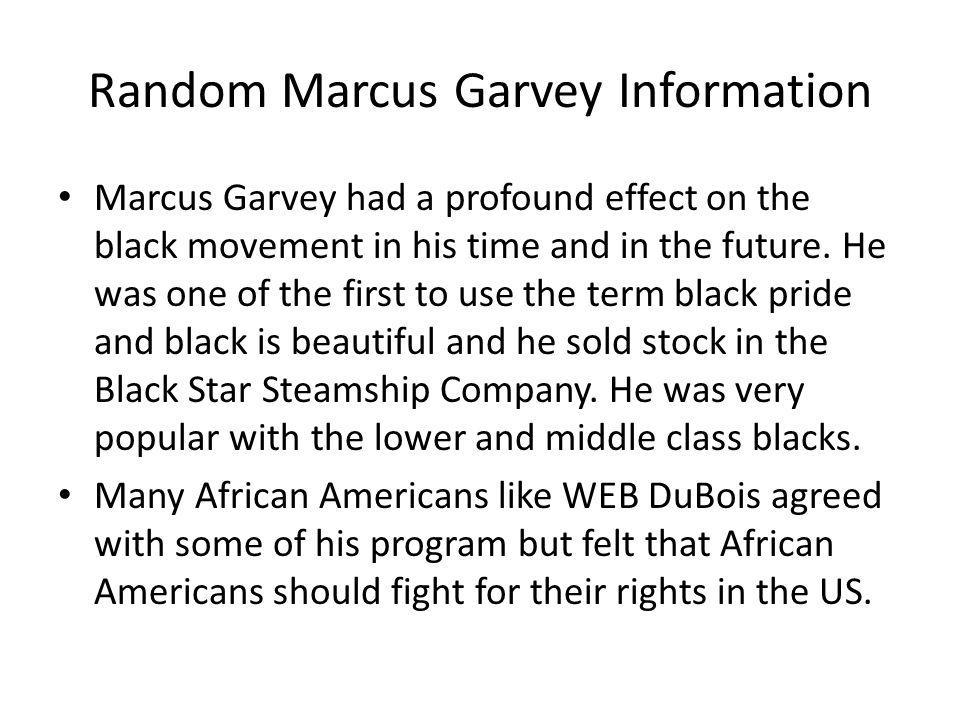Random Marcus Garvey Information