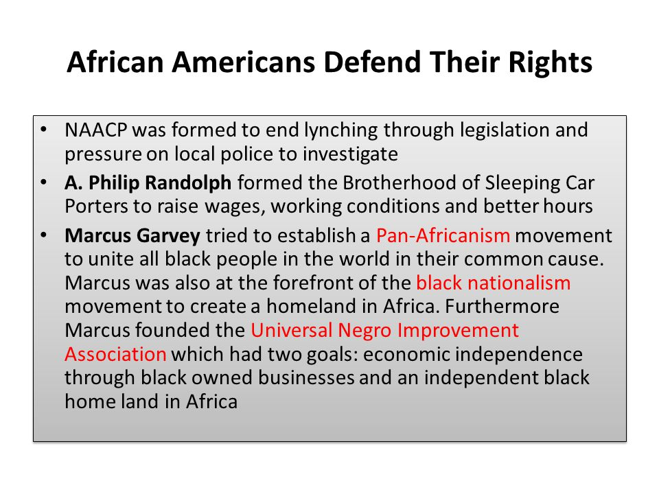 African Americans Defend Their Rights