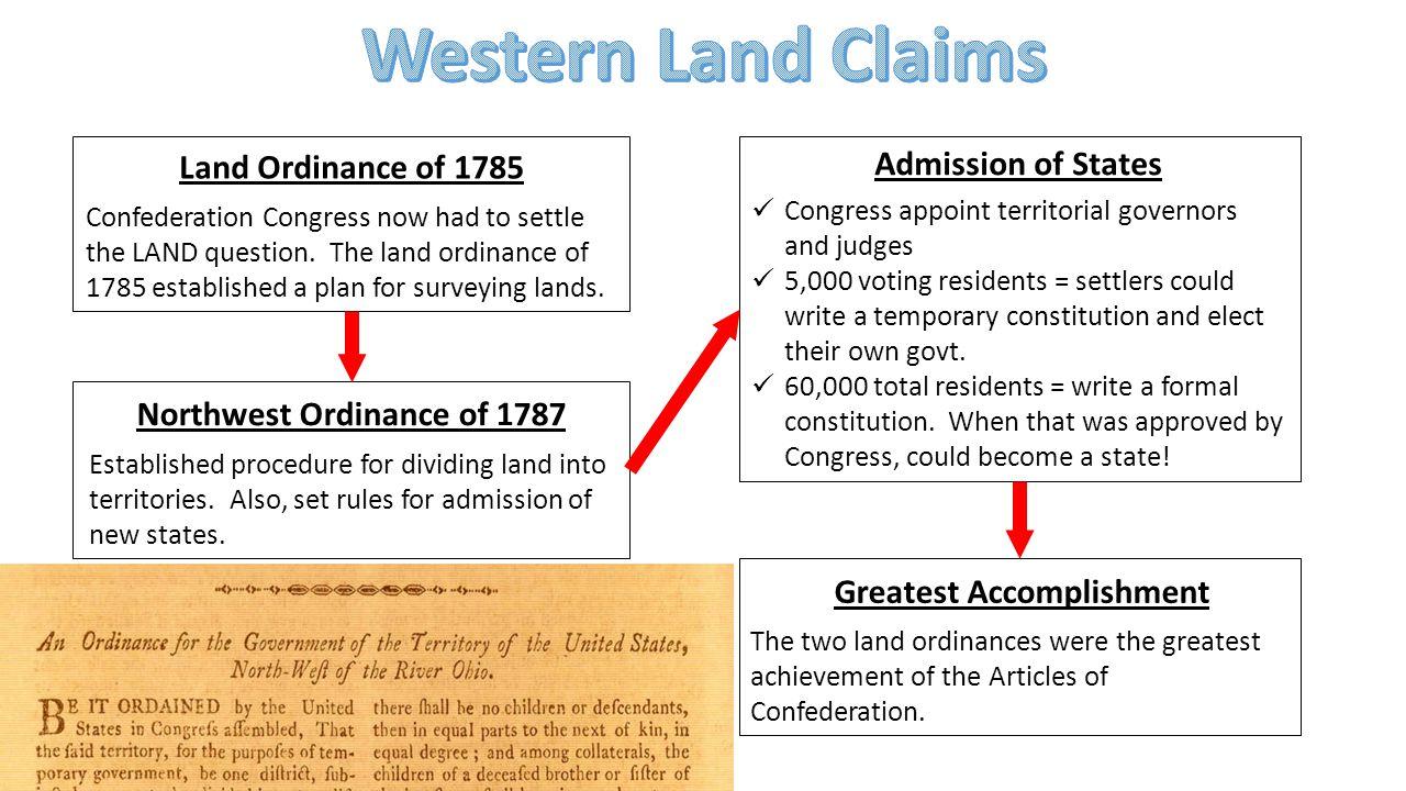 Northwest Ordinance of 1787 Greatest Accomplishment