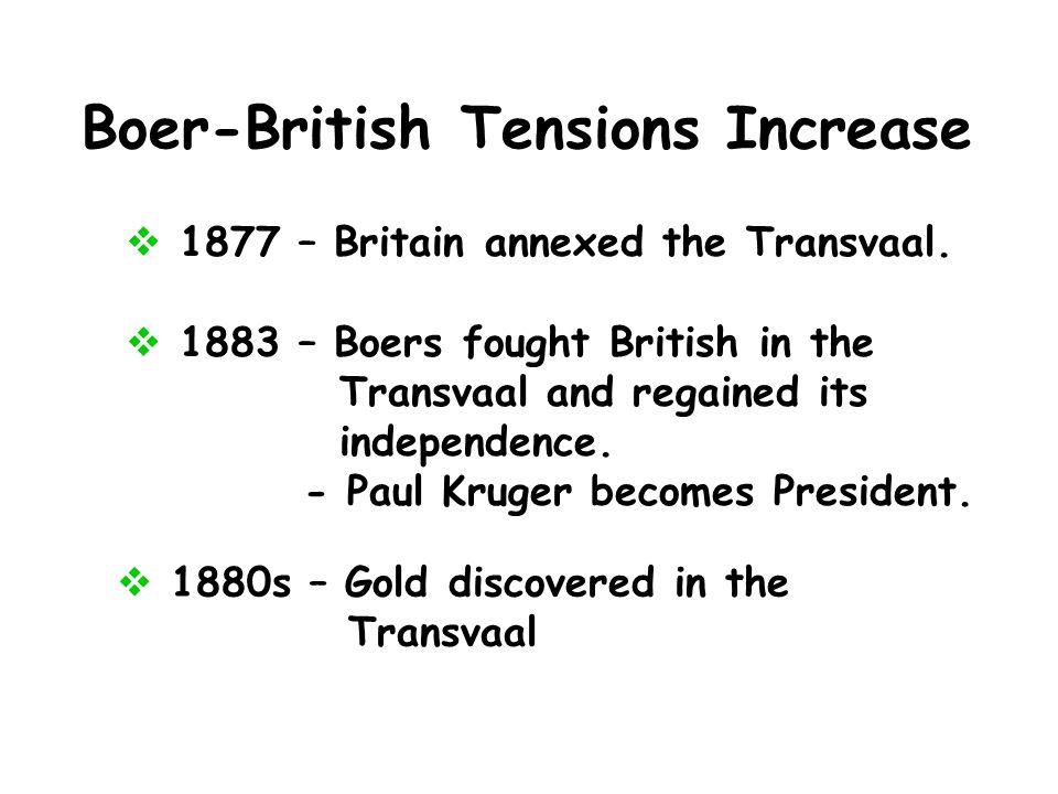 Boer-British Tensions Increase