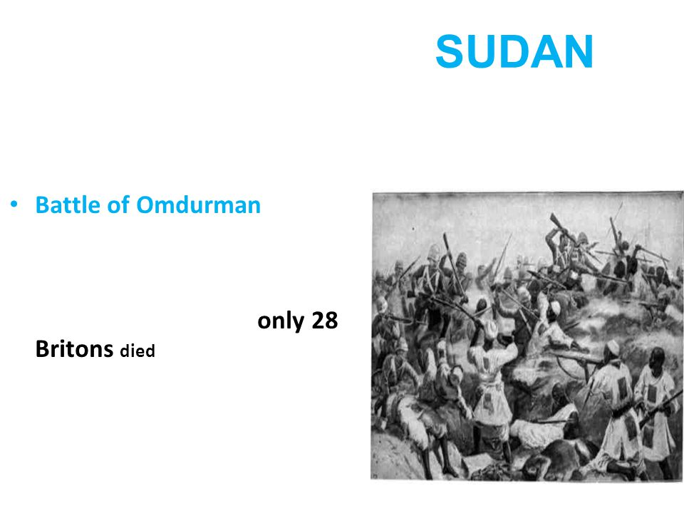 SUDAN Britain took control of Egypt in 1883