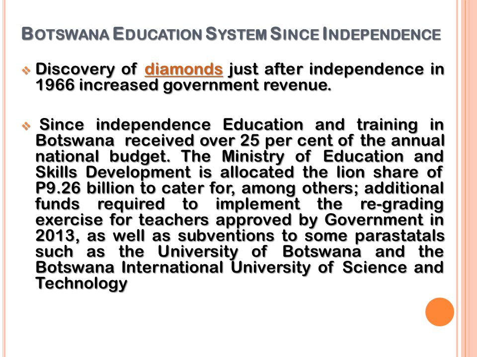 Botswana Education System Since Independence