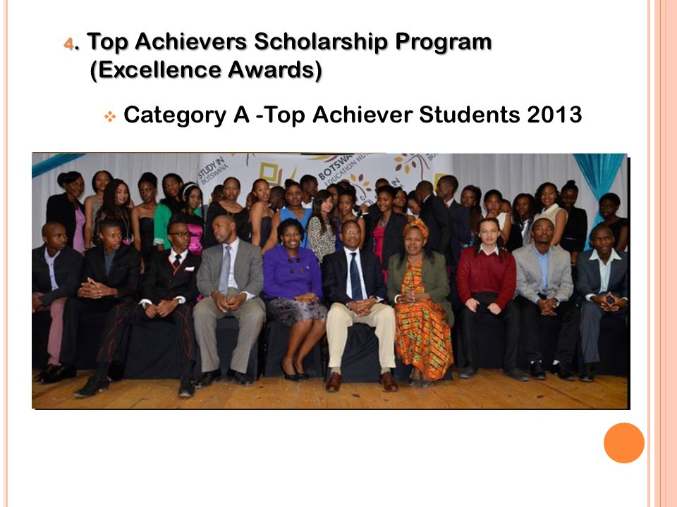 Category A -Top Achiever Students 2013
