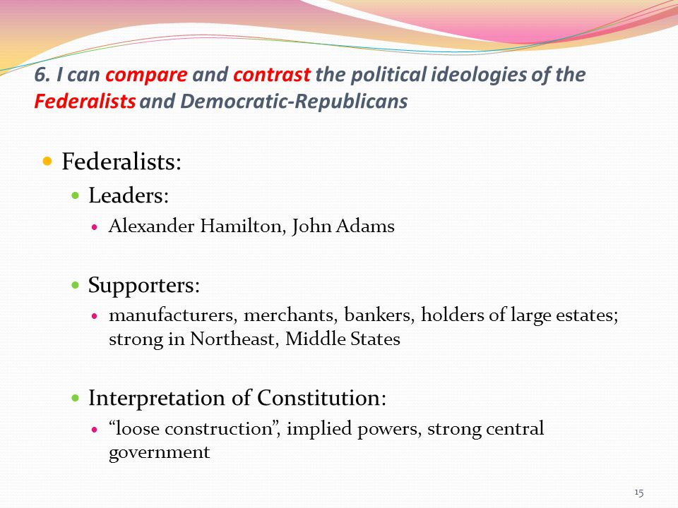 comparing and contrasting political ideologies robert