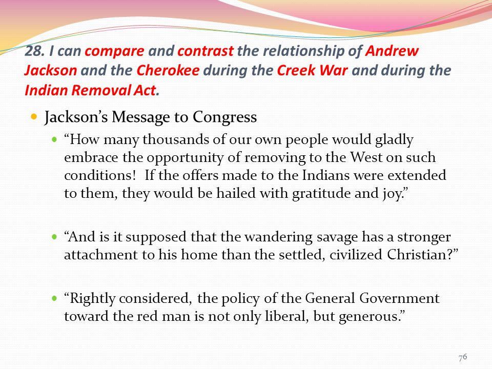 Jackson's Message to Congress