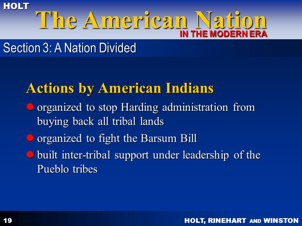 Actions by American Indians