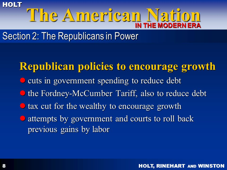 Republican policies to encourage growth