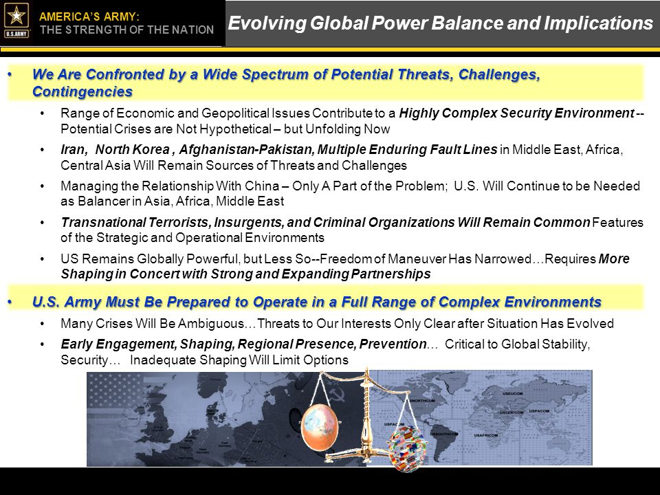 Evolving Global Power Balance and Implications