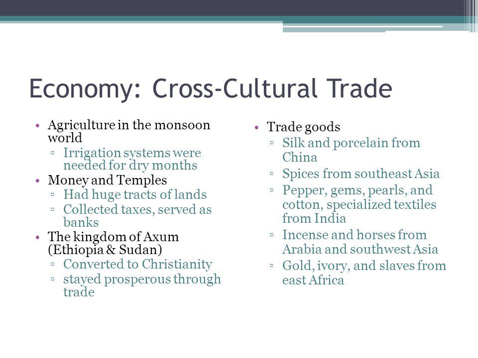 Economy: Cross-Cultural Trade