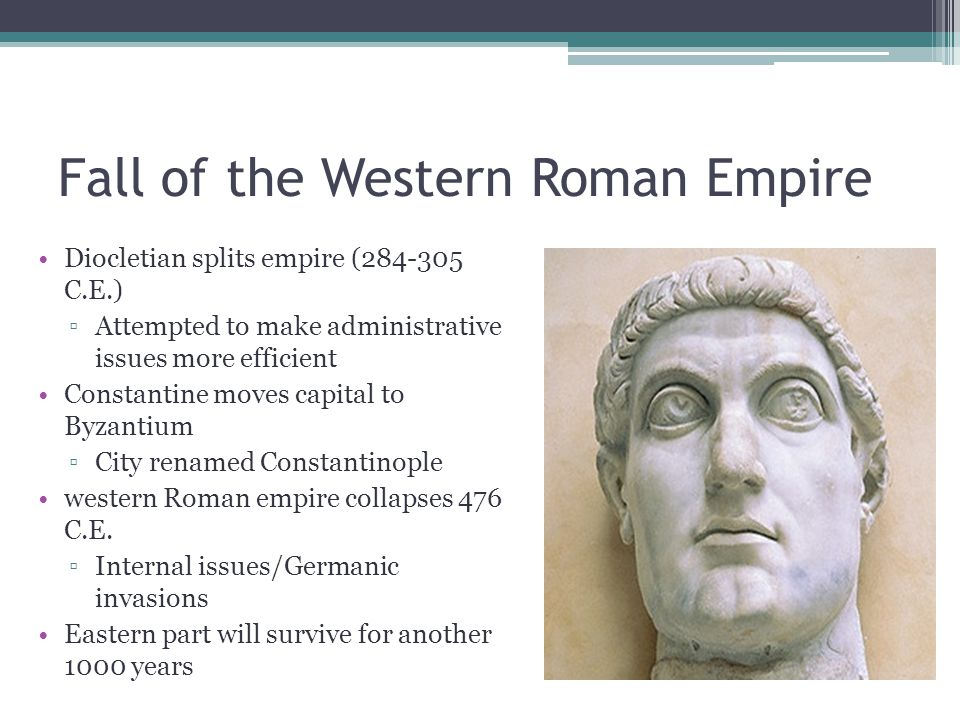the fall of the western roman Eastern roman emperor arcadius (395-408 ad) and honorius (393-423 ad) as  western roman emperor did not really agree in politics.