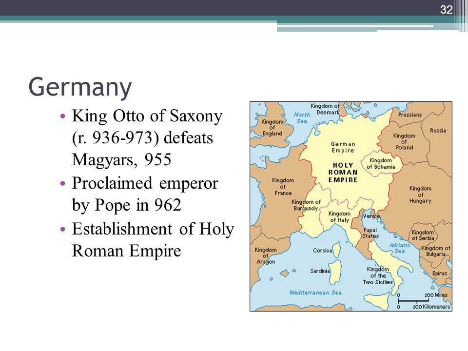 Germany King Otto of Saxony (r. 936-973) defeats Magyars, 955
