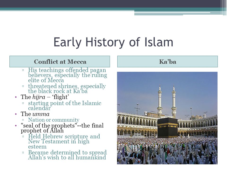 Early History of Islam Conflict at Mecca Ka'ba