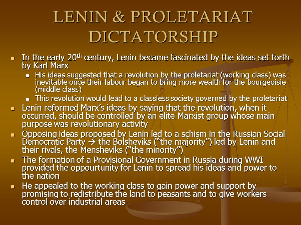 LENIN & PROLETARIAT DICTATORSHIP