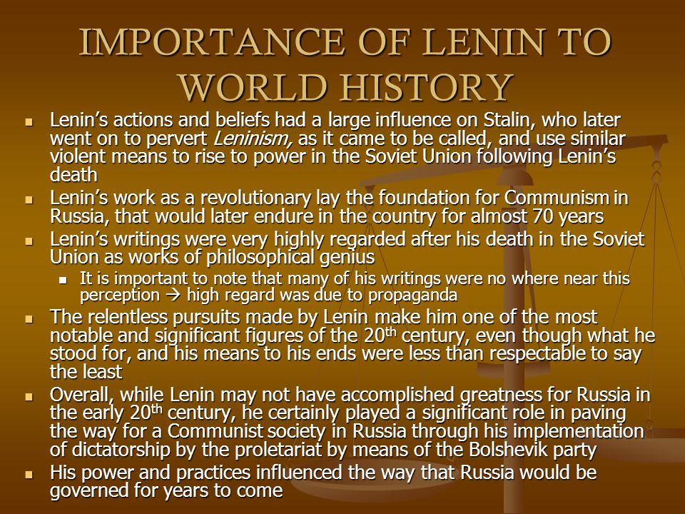 lenins power essay Essay – power struggle between stalin and trotsky in 1921, lenin's health was delicate and fragile he startedsuffering a series of strokes that.