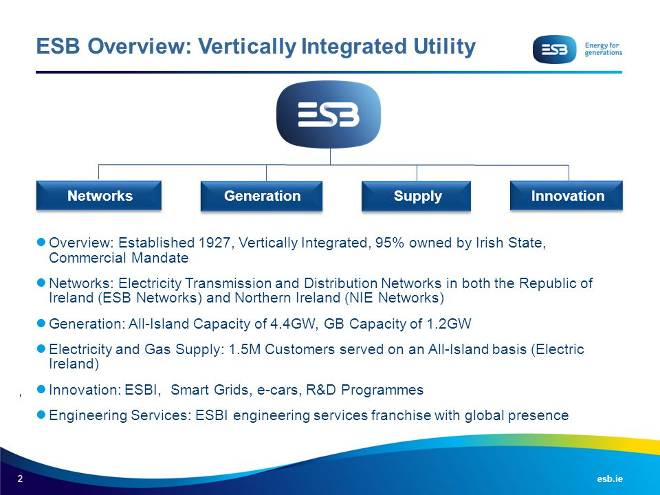 ESB Overview: Vertically Integrated Utility