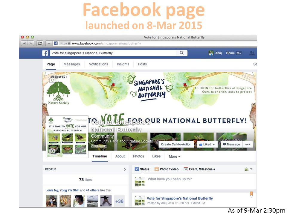 Facebook page launched on 8-Mar 2015 As of 9-Mar 2:30pm