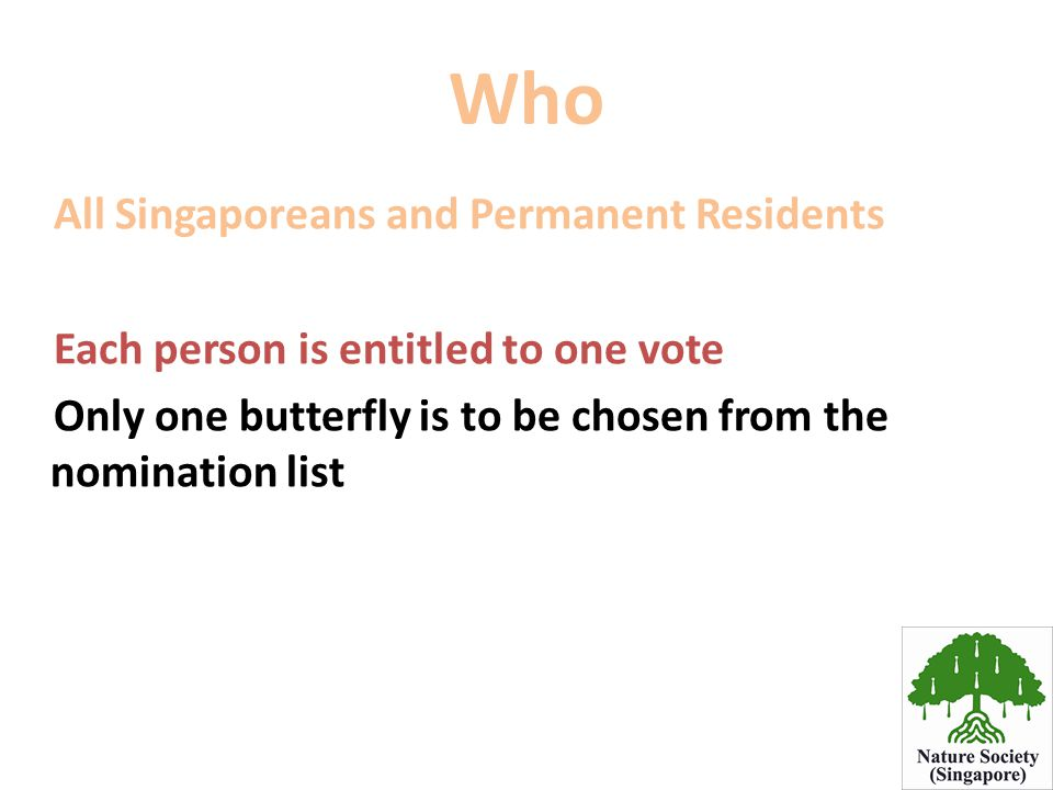 Who All Singaporeans and Permanent Residents