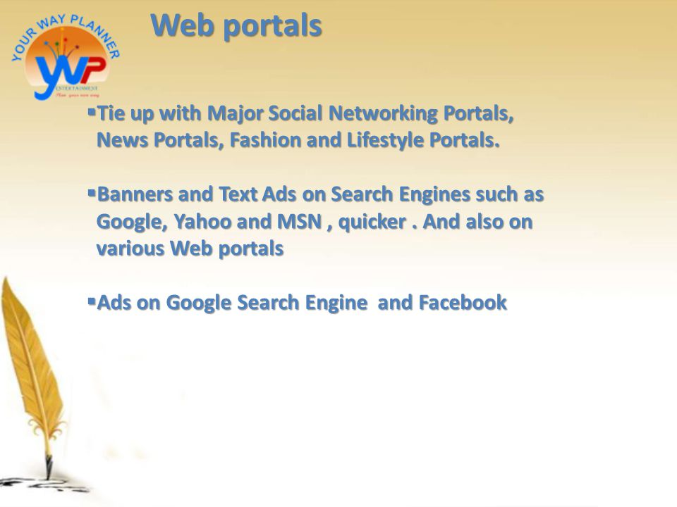 Web portals Tie up with Major Social Networking Portals,