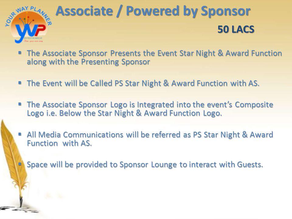 Associate / Powered by Sponsor