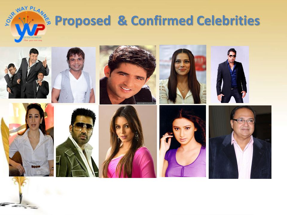 Proposed & Confirmed Celebrities