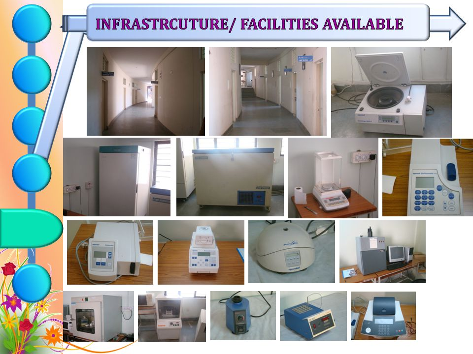 INFRASTRCUTURE/ FACILITIES AVAILABLE