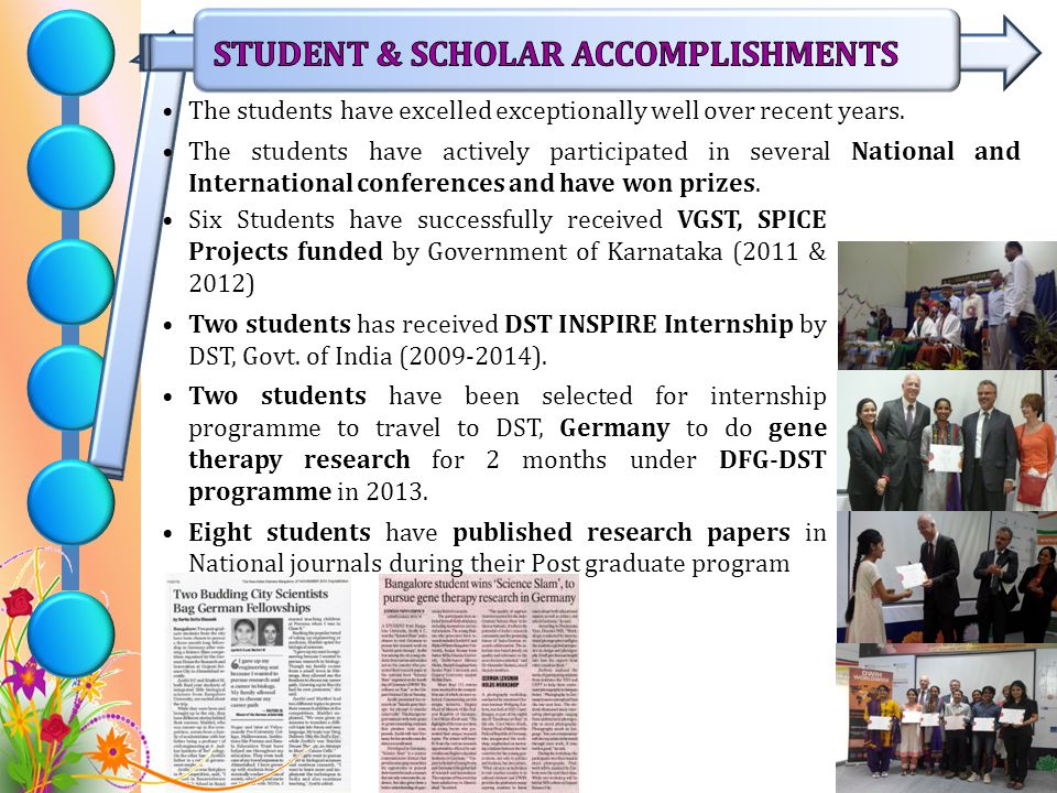 STUDENT & SCHOLAR ACCOMPLISHMENTS