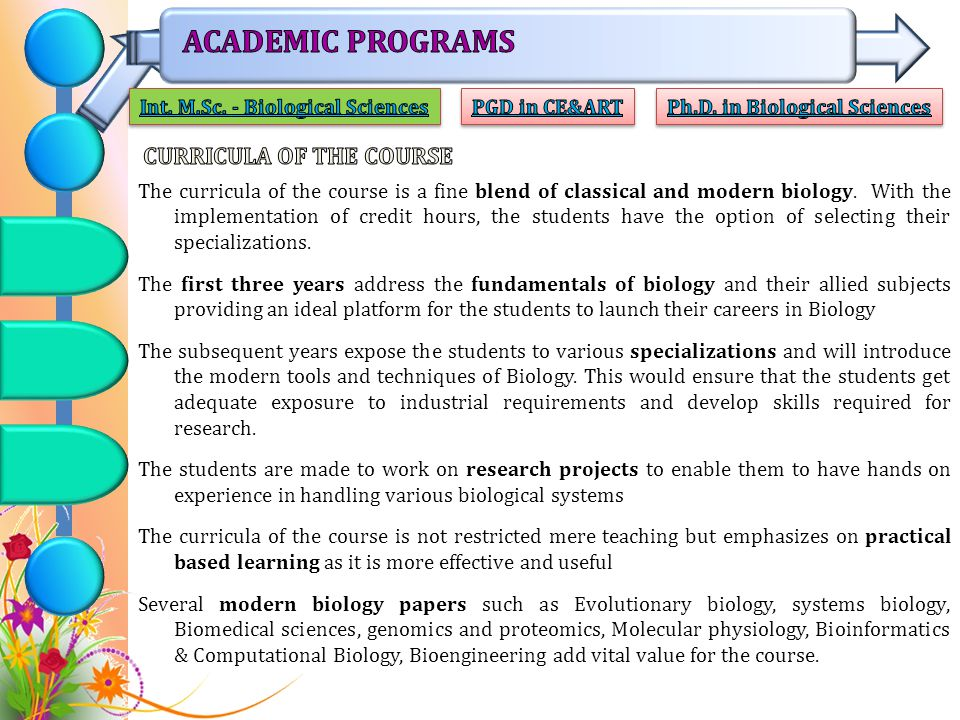 ACADEMIC PROGRAMS CURRICULA OF THE COURSE
