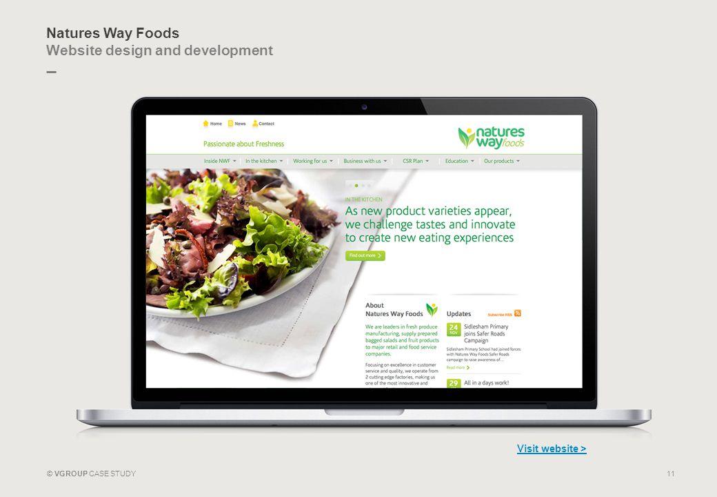 Natures Way Foods Website design and development