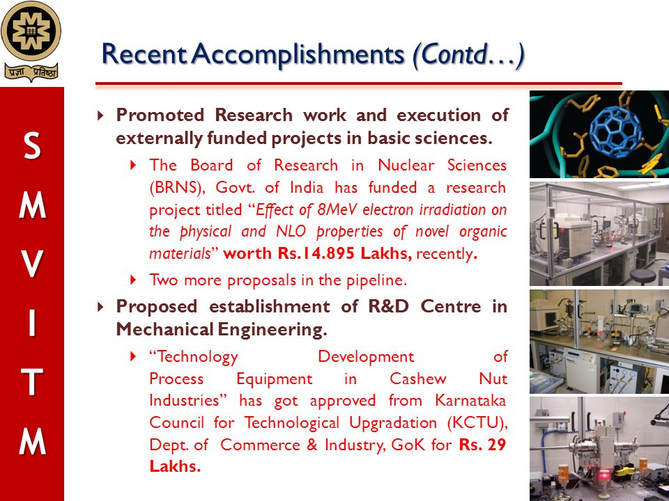 Recent Accomplishments (Contd…)