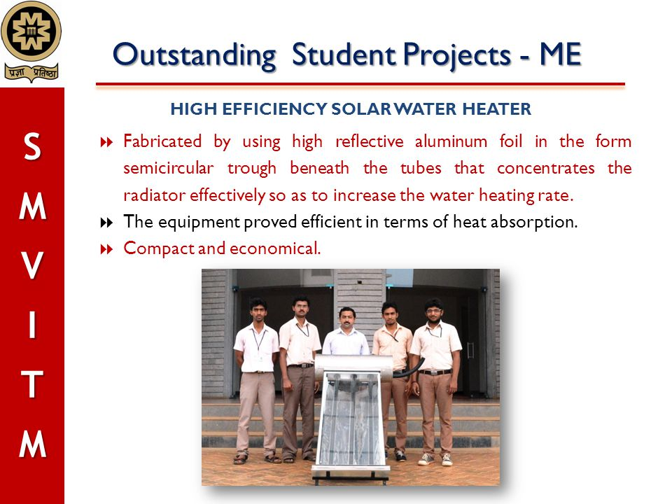 HIGH EFFICIENCY SOLAR WATER HEATER
