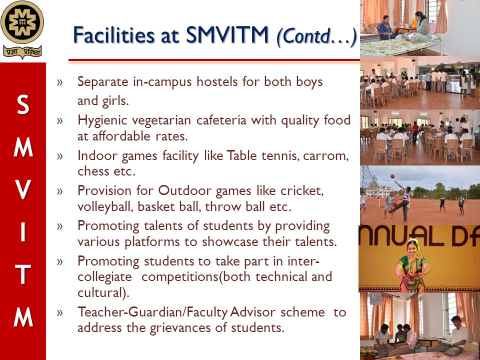 Facilities at SMVITM (Contd…)