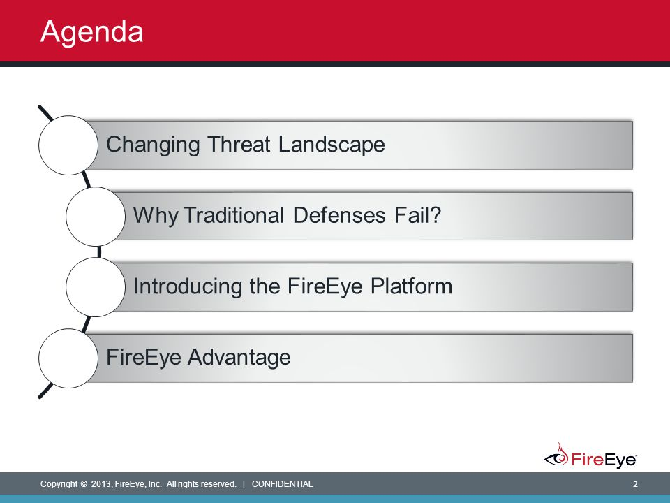 Agenda Changing Threat Landscape Why Traditional Defenses Fail