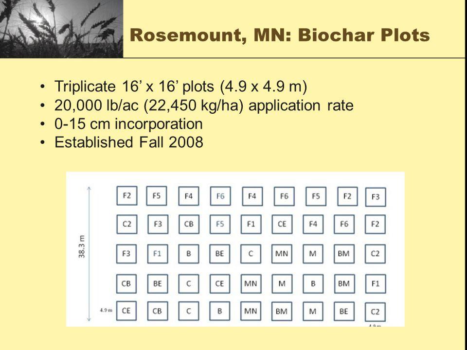 Rosemount, MN: Biochar Plots