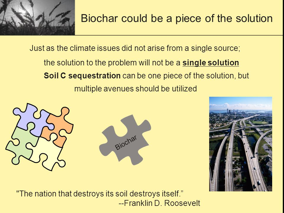 Biochar could be a piece of the solution