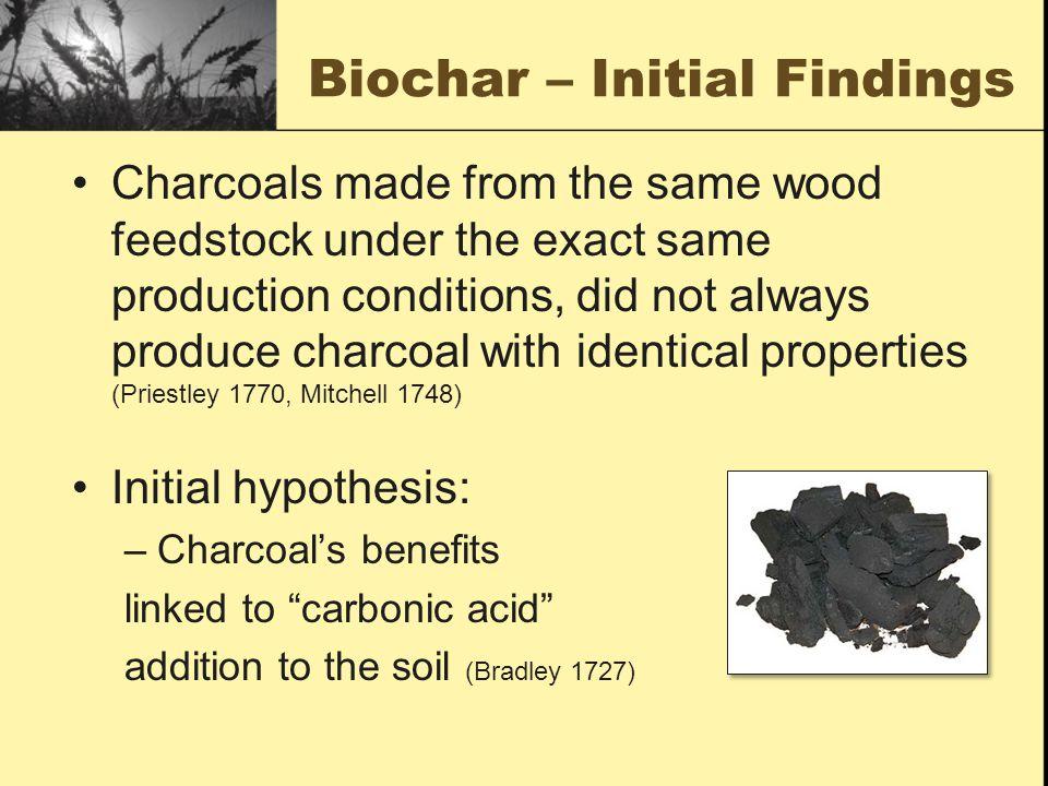 Biochar – Initial Findings