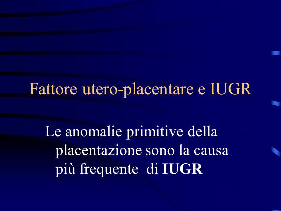 Fattore utero-placentare e IUGR