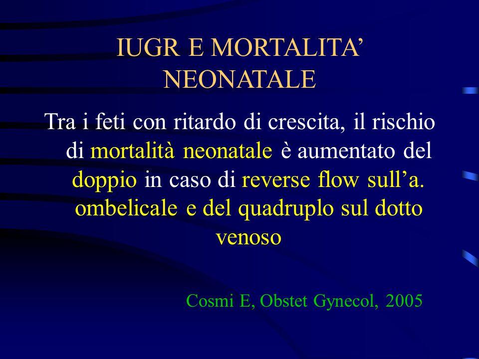 IUGR E MORTALITA' NEONATALE