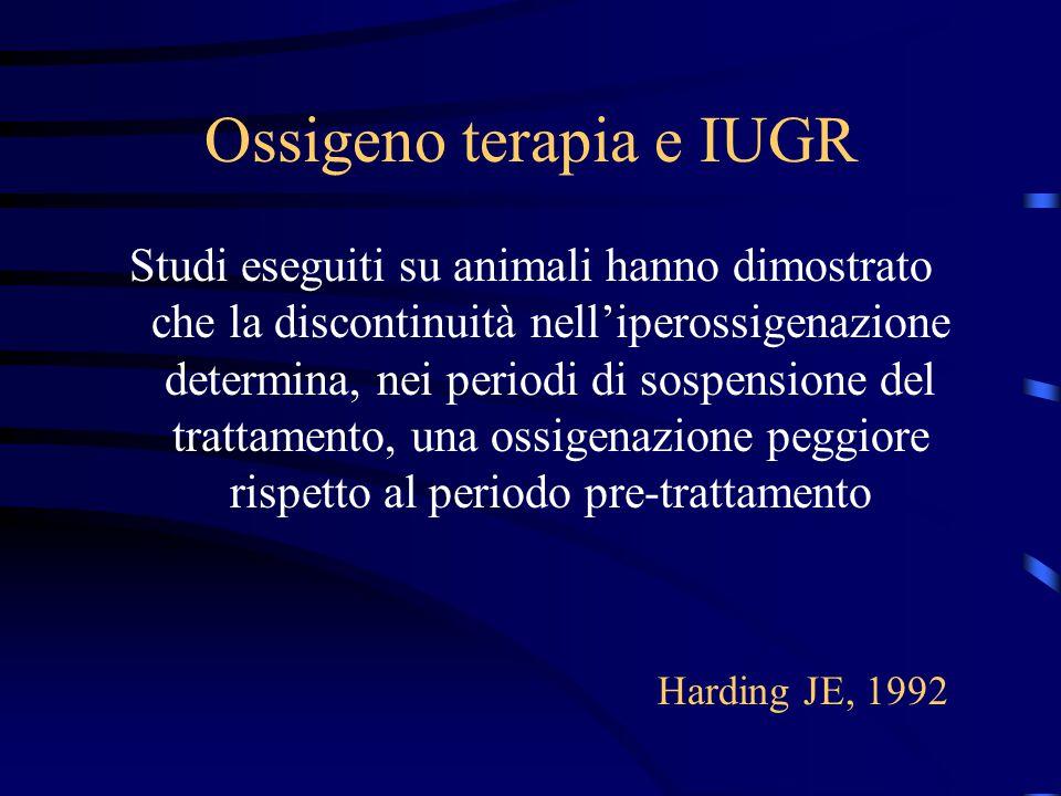 Ossigeno terapia e IUGR