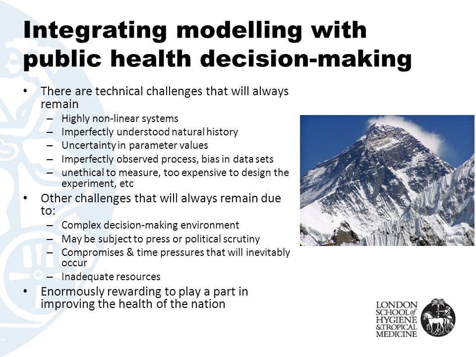 Integrating modelling with public health decision-making