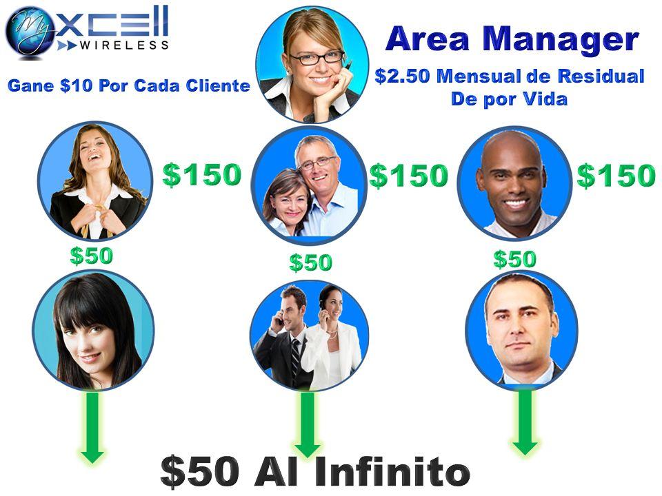 $50 Al Infinito Area Manager $150 $150 $150 $50 $50 $50