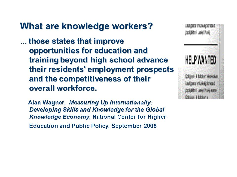 What are knowledge workers