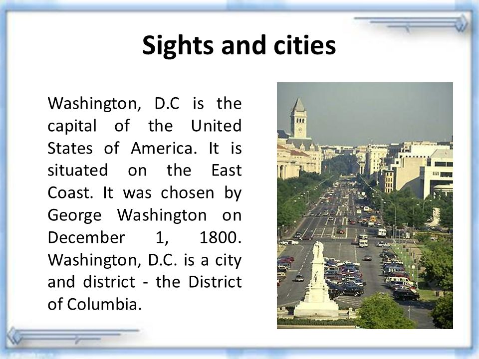 Sights and cities