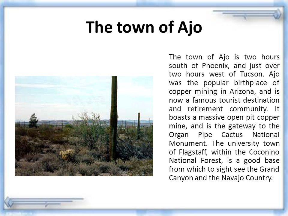 The town of Ajo