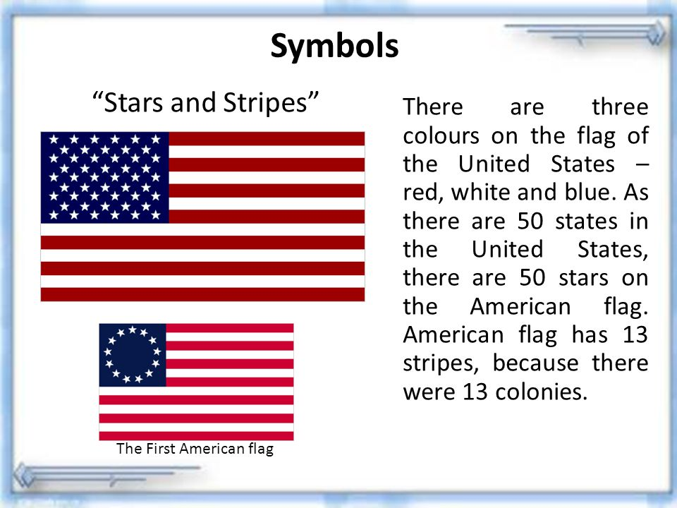 Symbols Stars and Stripes