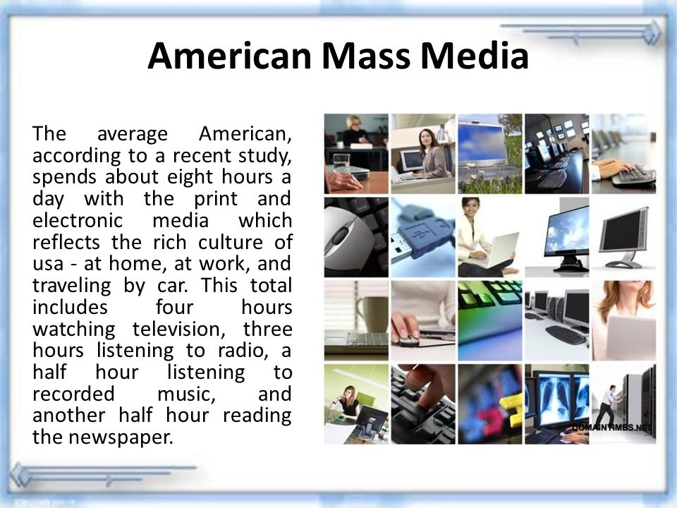 American Mass Media