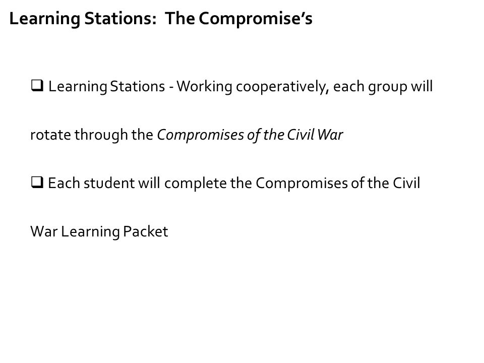 Learning Stations: The Compromise's