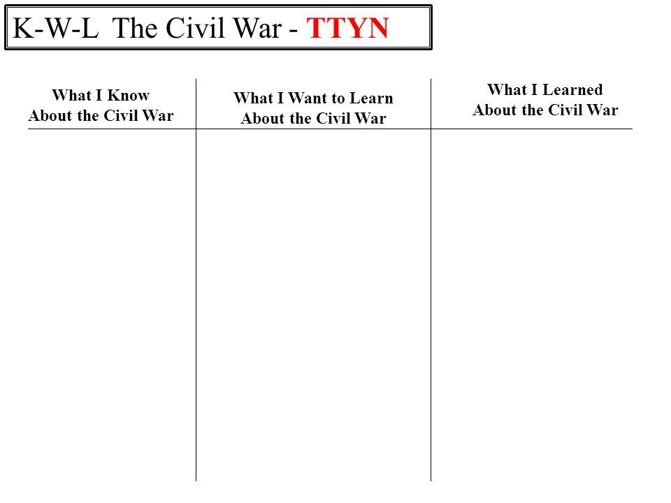 K-W-L The Civil War - TTYN