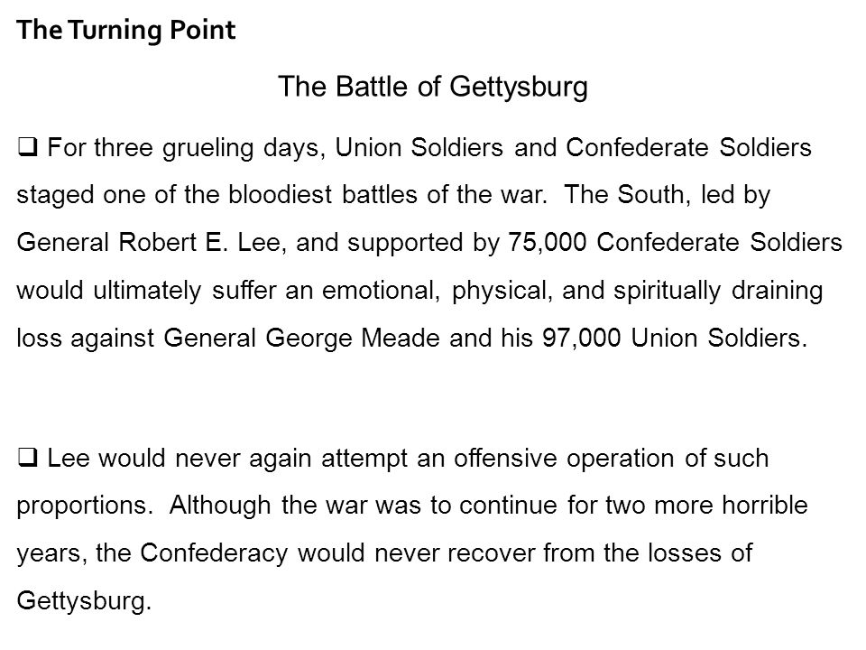 the battle of gettysburg why was it a turning point dbq essay rauscher s social studies tapp middle school th grade ga studies